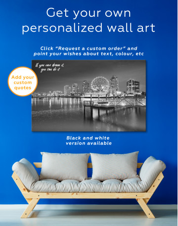 Science World Museum Vancouver Cityscape Canvas Wall Art - image 7