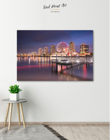 Science World Museum Vancouver Cityscape Canvas Wall Art - image 6