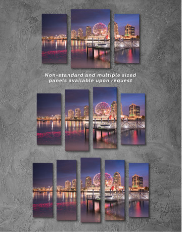 Science World Museum Vancouver Cityscape Canvas Wall Art - image 5