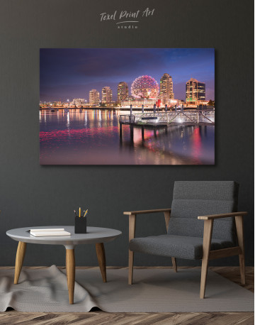 Science World Museum Vancouver Cityscape Canvas Wall Art - image 4