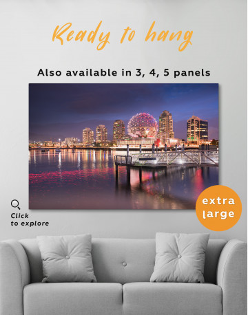 Science World Museum Vancouver Cityscape Canvas Wall Art - image 3