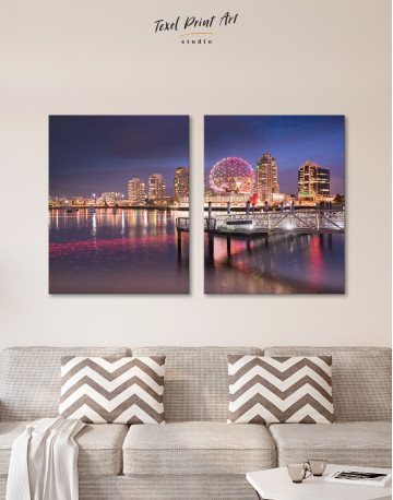 Science World Museum Vancouver Cityscape Canvas Wall Art - image 1