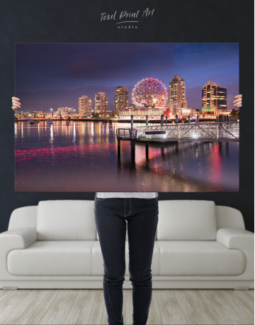 Science World Museum Vancouver Cityscape Canvas Wall Art - image 8