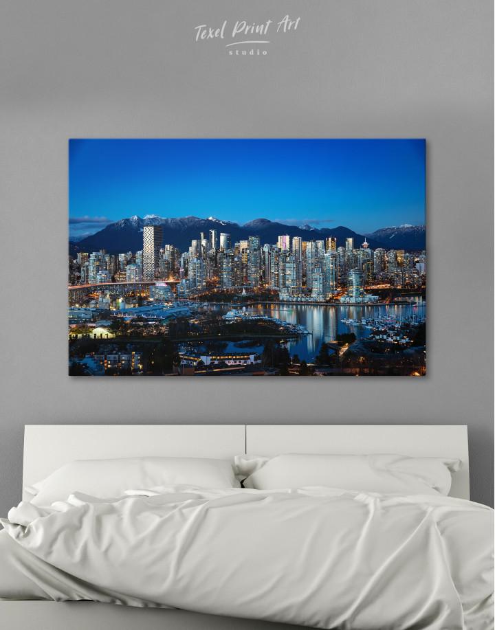 Beautiful British Columbia Vancouver Cityscape Canvas Wall Art