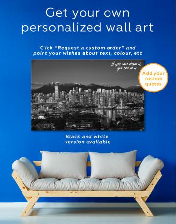 Beautiful British Columbia Vancouver Cityscape Canvas Wall Art - image 7