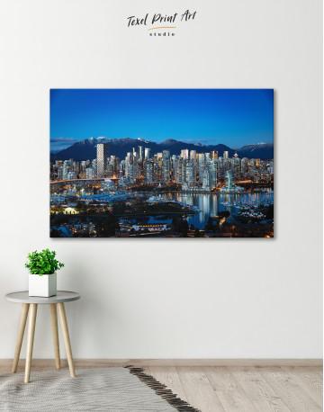 Beautiful British Columbia Vancouver Cityscape Canvas Wall Art - image 6