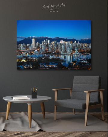 Beautiful British Columbia Vancouver Cityscape Canvas Wall Art - image 4