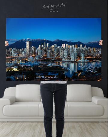 Beautiful British Columbia Vancouver Cityscape Canvas Wall Art - image 8