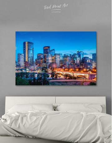 Calgary Skyline View Canvas Wall Art