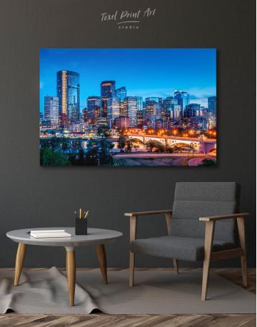 Calgary Skyline View Canvas Wall Art - image 4