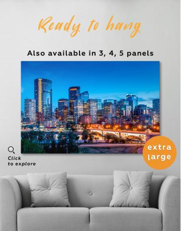 Calgary Skyline View Canvas Wall Art - image 5