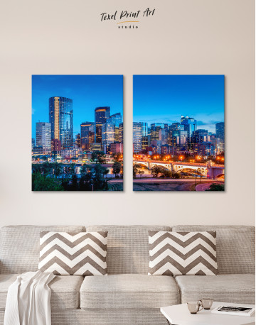 Calgary Skyline View Canvas Wall Art - image 7