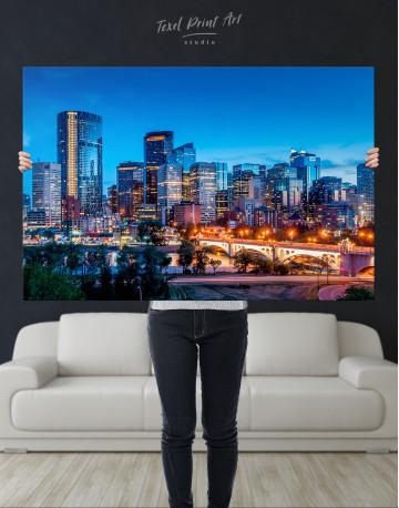 Calgary Skyline View Canvas Wall Art - image 8