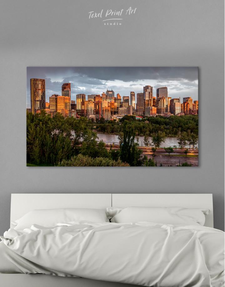 The City of Calgary cityscape Canvas Wall Art