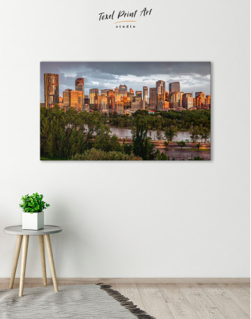 The City of Calgary cityscape Canvas Wall Art - image 5