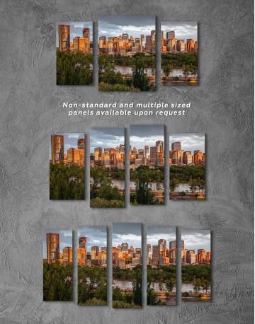 The City of Calgary cityscape Canvas Wall Art - image 4
