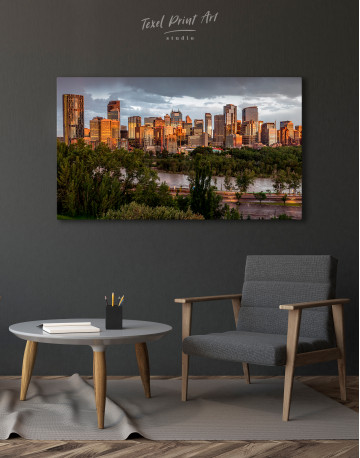 The City of Calgary cityscape Canvas Wall Art - image 3