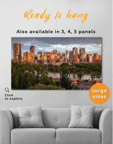 The City of Calgary cityscape Canvas Wall Art - image 2
