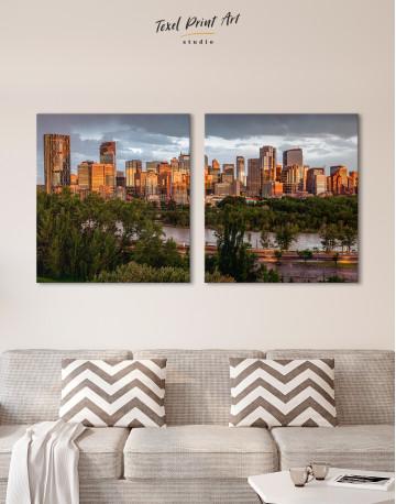 The City of Calgary cityscape Canvas Wall Art - image 8