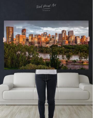 The City of Calgary cityscape Canvas Wall Art - image 7
