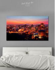 Sunset Cityscape View Canvas Wall Art