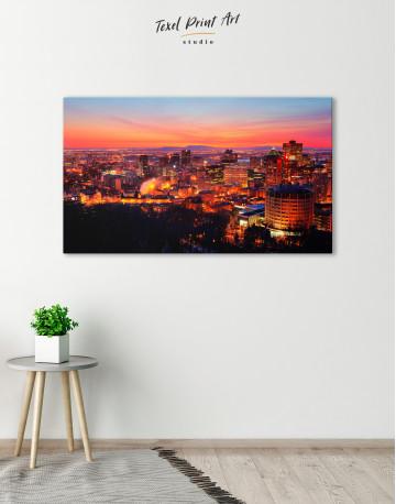 Sunset Cityscape View Canvas Wall Art - image 6