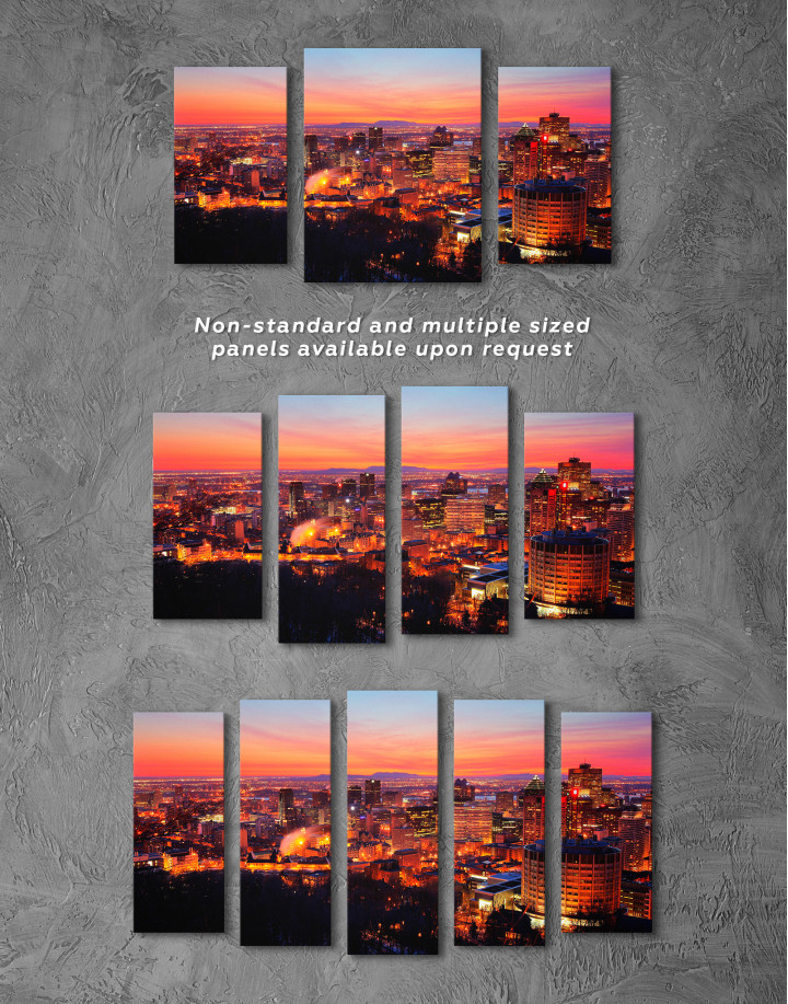 Sunset Cityscape View Canvas Wall Art - Image 5