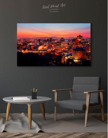 Sunset Cityscape View Canvas Wall Art - image 4