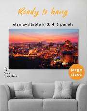 Sunset Cityscape View Canvas Wall Art - Image 3