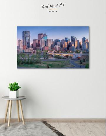 Eau Claire Park Calgary Skyline Canvas Wall Art - image 2