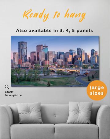 Eau Claire Park Calgary Skyline Canvas Wall Art - image 5