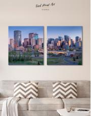 Eau Claire Park Calgary Skyline Canvas Wall Art - Image 7