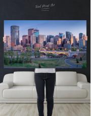 Eau Claire Park Calgary Skyline Canvas Wall Art - Image 8