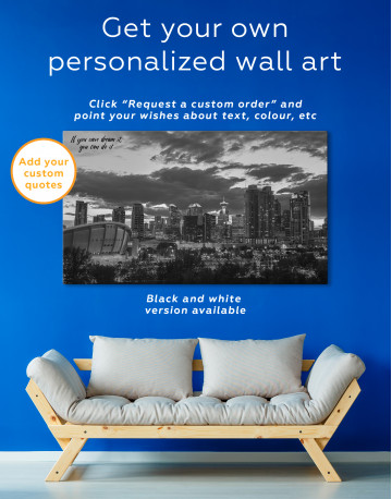Calgary Cityscape At Enmax Park Canvas Wall Art - image 1