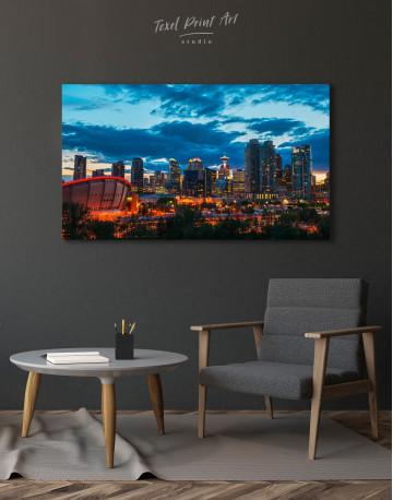 Calgary Cityscape At Enmax Park Canvas Wall Art - image 2