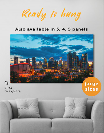 Calgary Cityscape At Enmax Park Canvas Wall Art - image 5