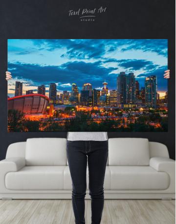 Calgary Cityscape At Enmax Park Canvas Wall Art - image 8