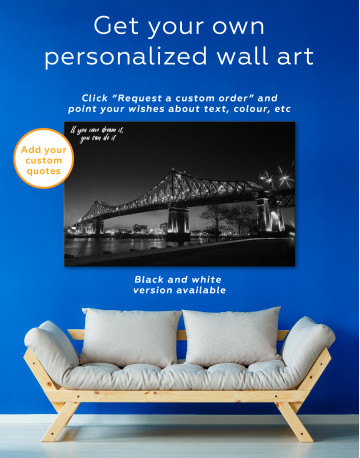 Jacques Cartier Bridge Illumination in Montreal Canvas Wall Art - image 6