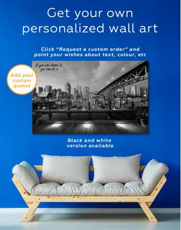 Granville Street Bridge Cityscape Canvas Wall Art - image 7