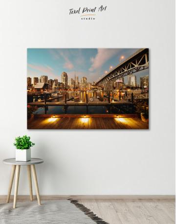 Granville Street Bridge Cityscape Canvas Wall Art - image 6