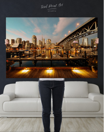 Granville Street Bridge Cityscape Canvas Wall Art - image 8
