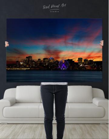 Sunset Skyline Horizon Canvas Wall Art - image 2