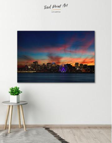 Sunset Skyline Horizon Canvas Wall Art - image 1