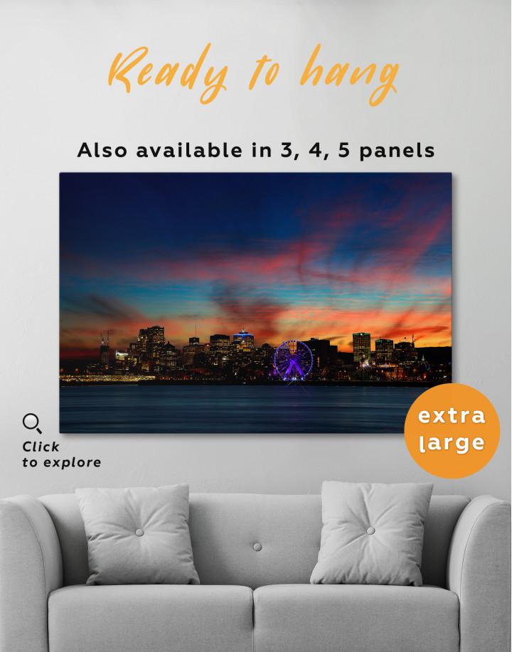 Sunset Skyline Horizon Canvas Wall Art