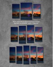 Sunset Skyline Horizon Canvas Wall Art - Image 4