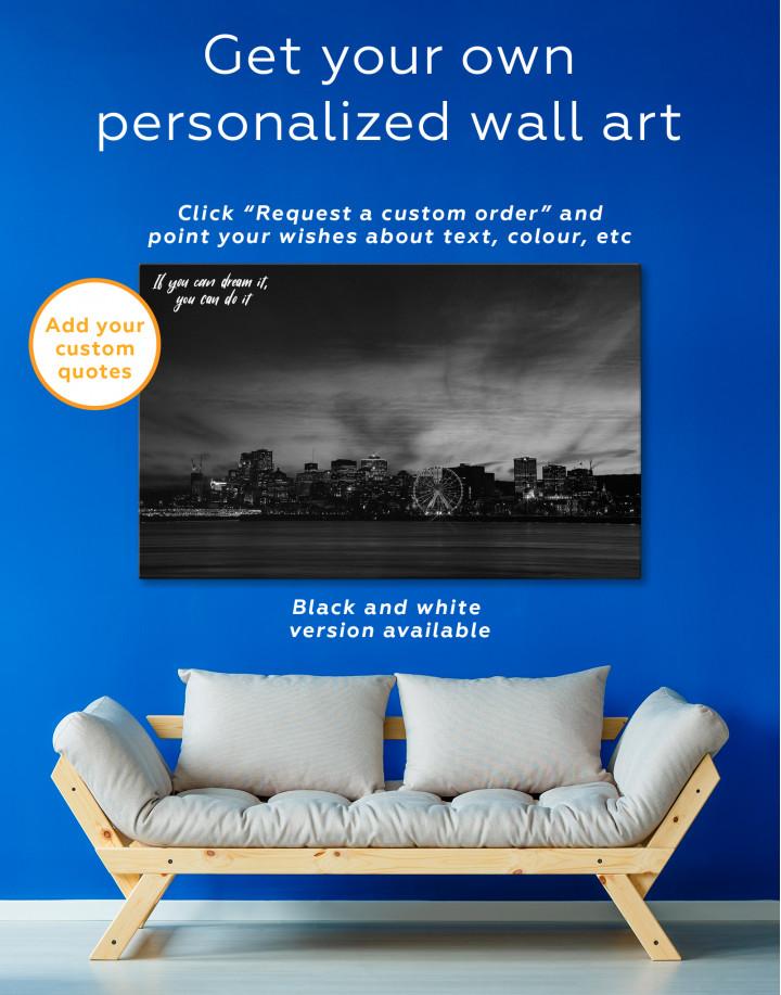 Sunset Skyline Horizon Canvas Wall Art - Image 5