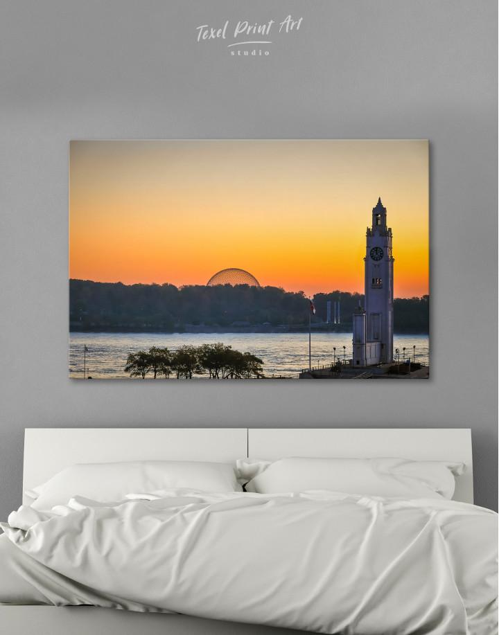 Sunrise Skyline Landscape Canvas Wall Art - Image 1