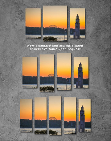 Sunrise Skyline Landscape Canvas Wall Art - image 3