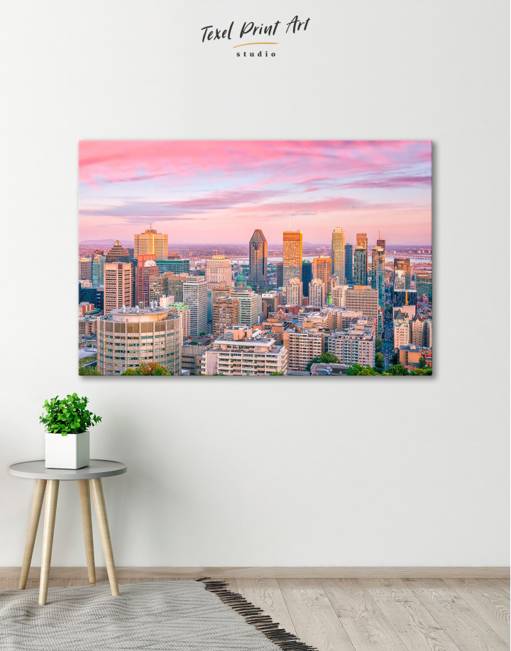 Beautiful Evening Montreal Skyline Canvas Wall Art - Image 4
