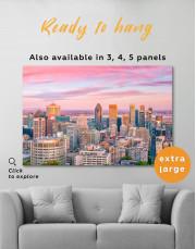 Beautiful Evening Montreal Skyline Canvas Wall Art